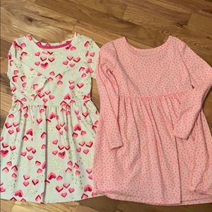 Girls cat and jack dresses 5T and XS